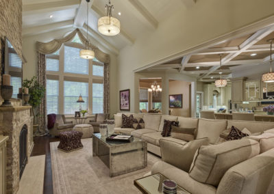 Voorhees Residence living room with expansive seating